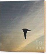 Oriented Bird Wood Print