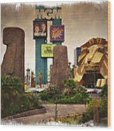 Original Mgm Grand Lion 1994 - Impressions Wood Print