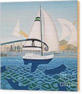 Coronado Sailin' - Memoryscape Wood Print