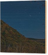 Orion Over Mt. Crawford Wood Print