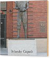 Orlando Cepeda At San Francisco Giants Att Park .7d7631 Wood Print