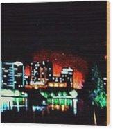 Orlando In Black Light Wood Print
