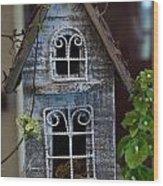 Ornamental Bird House Wood Print