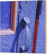Ornate Blue Handle 2 Wood Print