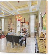 Ornate Dining Room Wood Print by Skip Nall