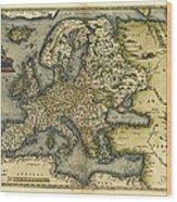 Ortelius's Map Of Europe, 1570 Wood Print