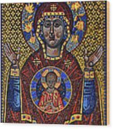 Orthodox Icon Of The Mosaic Wood Print