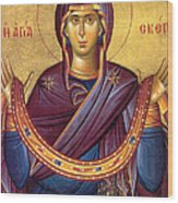 Orthodox Icon Virgin Mary Wood Print
