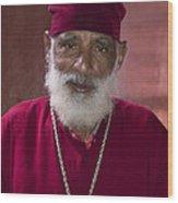 Orthodox Priest Of Addis Ababa Wood Print