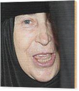 Orthodox Woman At Nativity Church Wood Print