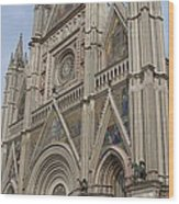 Orvieto Cathedral Wood Print
