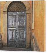Orvieto Doorway Wood Print