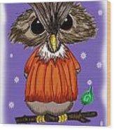 Oscar Owl Wood Print