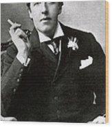 Oscar Wilde, Irish Author Wood Print by Photo Researchers