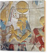 Osiris And Isis, Abydos Wood Print