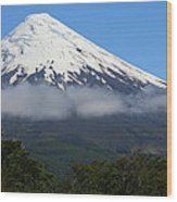 Osorno Volcano Ringed By Clouds Wood Print