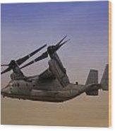 Osprey In Flight II Wood Print