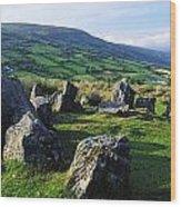 Ossians Grave, Co Antrim, Ireland Stone Wood Print