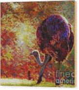 Ostrich II Wood Print
