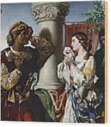 Othello And Desdemona Wood Print