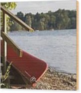 Otsego Lake Wood Print