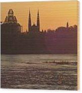 Ottawa By Night 5 Wood Print
