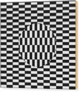 Ouchi Illusion Wood Print