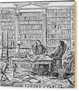 Our Library Table, 1842 Wood Print by Granger