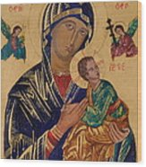 Our Mother Of Perpetual Help Wood Print
