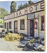 out front Cardrona Hotel Wood Print