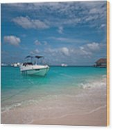 Out Of Border. Maldives Wood Print by Jenny Rainbow
