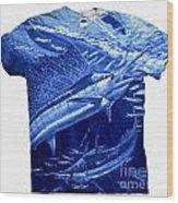 Out Of Sight Mens Blue Shirt Wood Print
