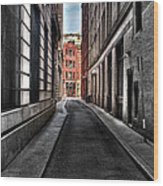 Out Of The Alley Wood Print