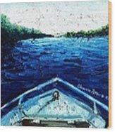 Out On The Boat Wood Print