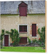 Outbuildings Of Chateau Cheverny Wood Print by Louise Heusinkveld