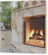 Outdoor Patio Living Space Residential Wood Print