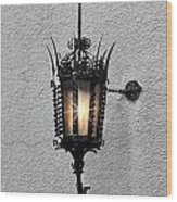 Outdoor Wall Lamp Aglow Wood Print