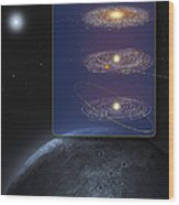 Outer Solar System Formation Wood Print