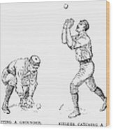 Outfielder, 1889 Wood Print