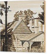 Outside The Mercer Museum Wood Print