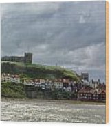 Over Looking Whitby Wood Print