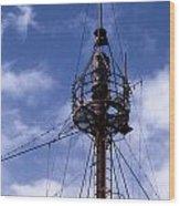 Overfalls Light Station Wood Print