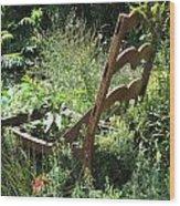 Overgrown Chair Wood Print