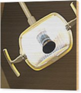 Overhead Dentist Lamp Wood Print by Jetta Productions, Inc