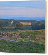 Overlook Of The Gettysburg Battlefield Wood Print