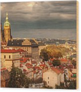 Overlook Prague Wood Print