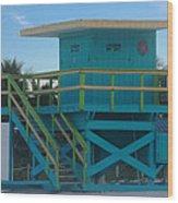 Overlook The Beach Wood Print