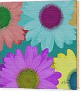 Oversize Daisies Two Wood Print