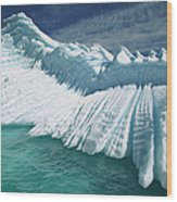 Overturned Iceberg With Eroded Edges Wood Print