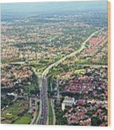 Overview Of Jakarta. Wood Print by TeeJe